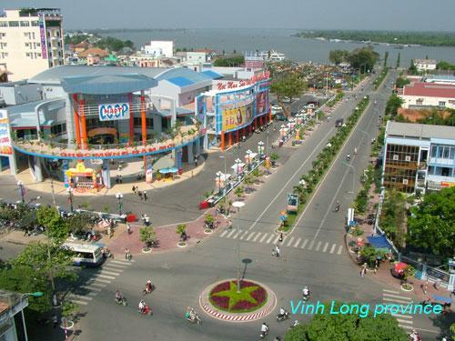 La ville Vinh Long actuellement