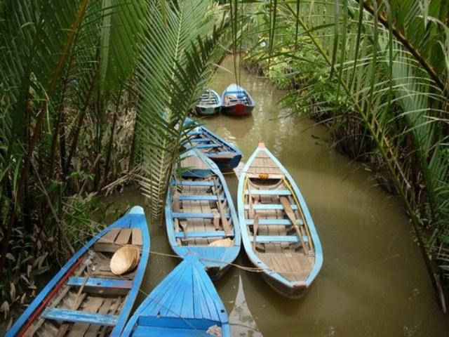 Croisière au milieu des cocotiers d'eau à My Tho
