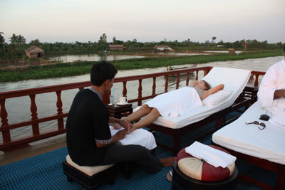 Massage à bord Douce Mekong